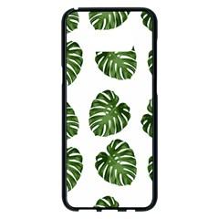 Leaf Pattern Seamless Background Samsung Galaxy S8 Plus Black Seamless Case by BangZart