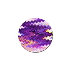 Purple And Yellow Zig Zag Golf Ball Marker (10 Pack) by BangZart