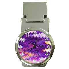 Purple And Yellow Zig Zag Money Clip Watches by BangZart
