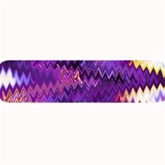 Purple And Yellow Zig Zag Large Bar Mats by BangZart