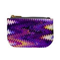 Purple And Yellow Zig Zag Mini Coin Purses by BangZart
