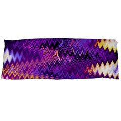 Purple And Yellow Zig Zag Body Pillow Case (Dakimakura) by BangZart
