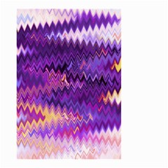 Purple And Yellow Zig Zag Small Garden Flag (two Sides) by BangZart