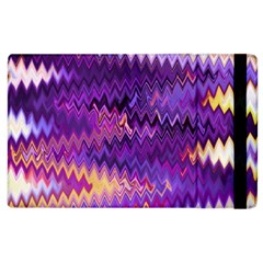 Purple And Yellow Zig Zag Apple Ipad 2 Flip Case by BangZart