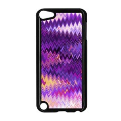 Purple And Yellow Zig Zag Apple iPod Touch 5 Case (Black) by BangZart