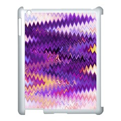 Purple And Yellow Zig Zag Apple Ipad 3/4 Case (white)