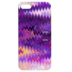 Purple And Yellow Zig Zag Apple Iphone 5 Hardshell Case With Stand by BangZart