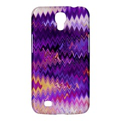 Purple And Yellow Zig Zag Samsung Galaxy Mega 6 3  I9200 Hardshell Case by BangZart