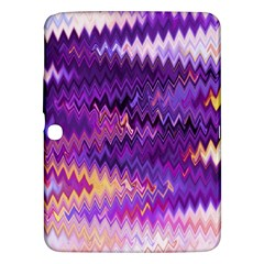Purple And Yellow Zig Zag Samsung Galaxy Tab 3 (10 1 ) P5200 Hardshell Case  by BangZart