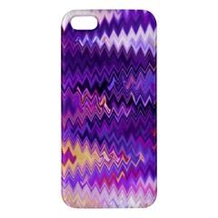 Purple And Yellow Zig Zag Iphone 5s/ Se Premium Hardshell Case by BangZart