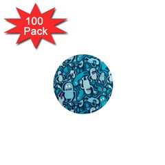 Monster Pattern 1  Mini Magnets (100 pack)