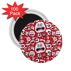 Another Monster Pattern 2 25  Magnets (100 Pack)  by BangZart