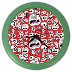 Another Monster Pattern Color Wall Clocks by BangZart
