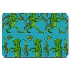 Swamp Monster Pattern Large Doormat  by BangZart