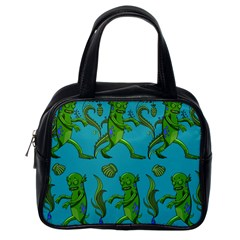 Swamp Monster Pattern Classic Handbags (one Side) by BangZart