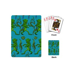 Swamp Monster Pattern Playing Cards (mini)  by BangZart