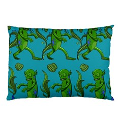 Swamp Monster Pattern Pillow Case (two Sides) by BangZart