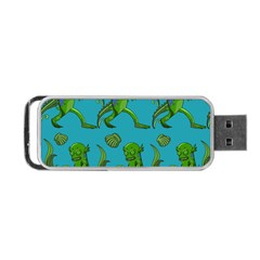 Swamp Monster Pattern Portable Usb Flash (one Side) by BangZart