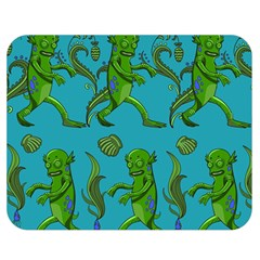 Swamp Monster Pattern Double Sided Flano Blanket (medium)  by BangZart