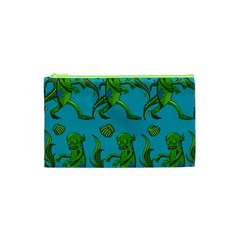 Swamp Monster Pattern Cosmetic Bag (xs) by BangZart