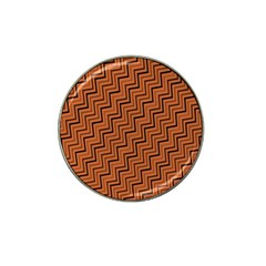 Brown Zig Zag Background Hat Clip Ball Marker (4 Pack) by BangZart