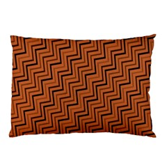 Brown Zig Zag Background Pillow Case by BangZart