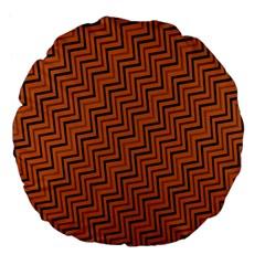Brown Zig Zag Background Large 18  Premium Flano Round Cushions by BangZart