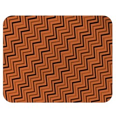 Brown Zig Zag Background Double Sided Flano Blanket (medium)  by BangZart