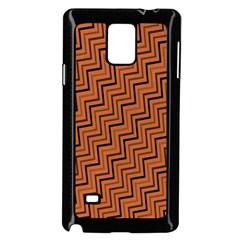 Brown Zig Zag Background Samsung Galaxy Note 4 Case (black) by BangZart