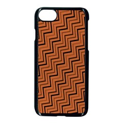 Brown Zig Zag Background Apple Iphone 7 Seamless Case (black)