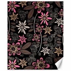 Flower Art Pattern Canvas 16  X 20   by BangZart
