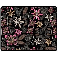 Flower Art Pattern Double Sided Fleece Blanket (medium)  by BangZart