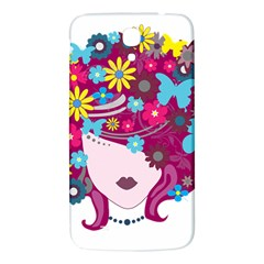 Beautiful Gothic Woman With Flowers And Butterflies Hair Clipart Samsung Galaxy Mega I9200 Hardshell Back Case by BangZart