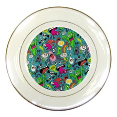 Monster Party Pattern Porcelain Plates by BangZart