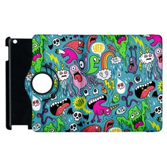 Monster Party Pattern Apple Ipad 2 Flip 360 Case by BangZart