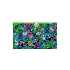 Monster Party Pattern Cosmetic Bag (xs) by BangZart