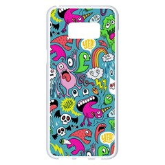 Monster Party Pattern Samsung Galaxy S8 Plus White Seamless Case