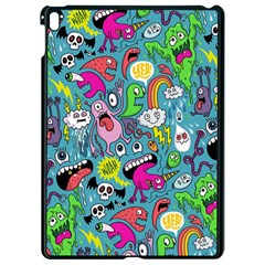 Monster Party Pattern Apple iPad Pro 9.7   Black Seamless Case by BangZart