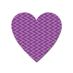 Zig Zag Background Purple Heart Magnet by BangZart