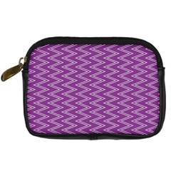 Zig Zag Background Purple Digital Camera Cases by BangZart