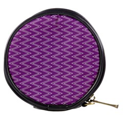 Zig Zag Background Purple Mini Makeup Bags by BangZart