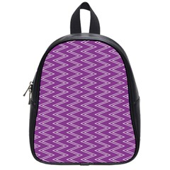 Zig Zag Background Purple School Bags (small)  by BangZart