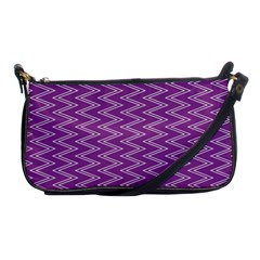 Zig Zag Background Purple Shoulder Clutch Bags by BangZart