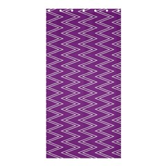 Zig Zag Background Purple Shower Curtain 36  X 72  (stall)  by BangZart