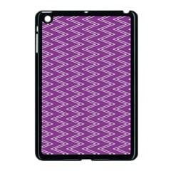 Zig Zag Background Purple Apple Ipad Mini Case (black) by BangZart