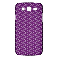 Zig Zag Background Purple Samsung Galaxy Mega 5 8 I9152 Hardshell Case  by BangZart