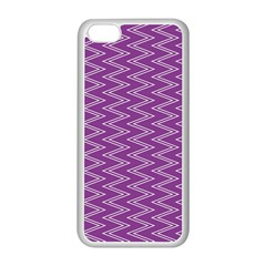 Zig Zag Background Purple Apple Iphone 5c Seamless Case (white) by BangZart