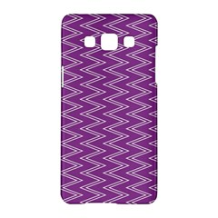 Zig Zag Background Purple Samsung Galaxy A5 Hardshell Case  by BangZart