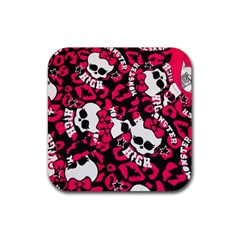 Mattel Monster Pattern Rubber Coaster (square)  by BangZart