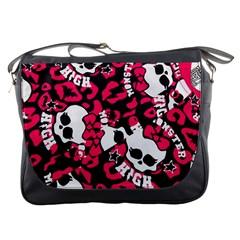 Mattel Monster Pattern Messenger Bags by BangZart